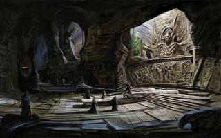 Бесплатные фото concept art,the elder scrolls v,храм,пещера,люди,skyrim,ступени