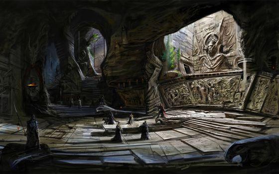 Фото бесплатно concept art, the elder scrolls v, храм