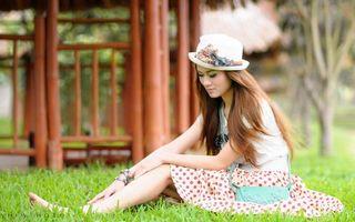 Фото бесплатно девочка, шляпа, волосы