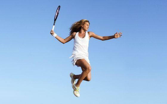 Фото бесплатно девушка, теннис, ракетка