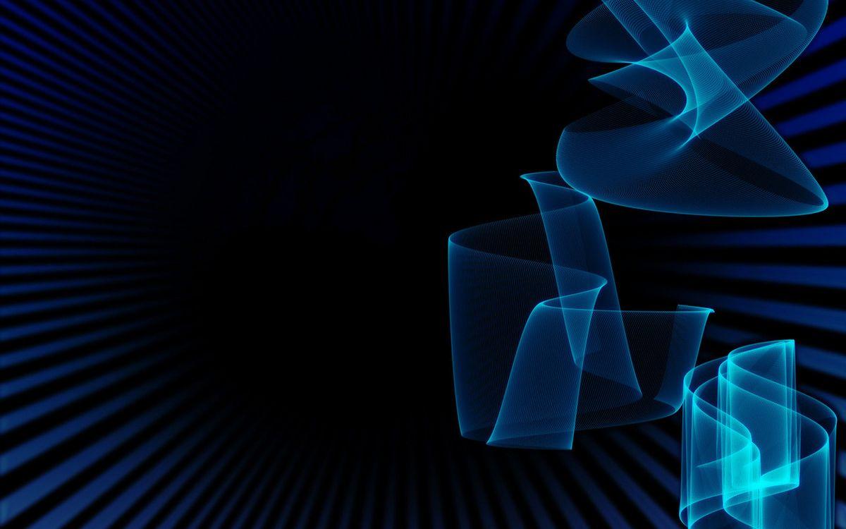 Фото бесплатно фон, синий, полоски, линии, свет, графика, обои, заставка, абстракции, абстракции