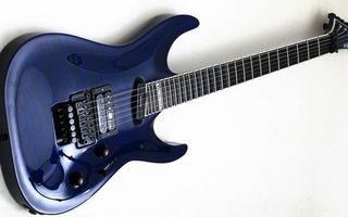 Заставки гитара, синяя, электро