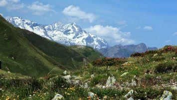 Бесплатные фото горы,холмы трава,зеленая,небо,облака,природа