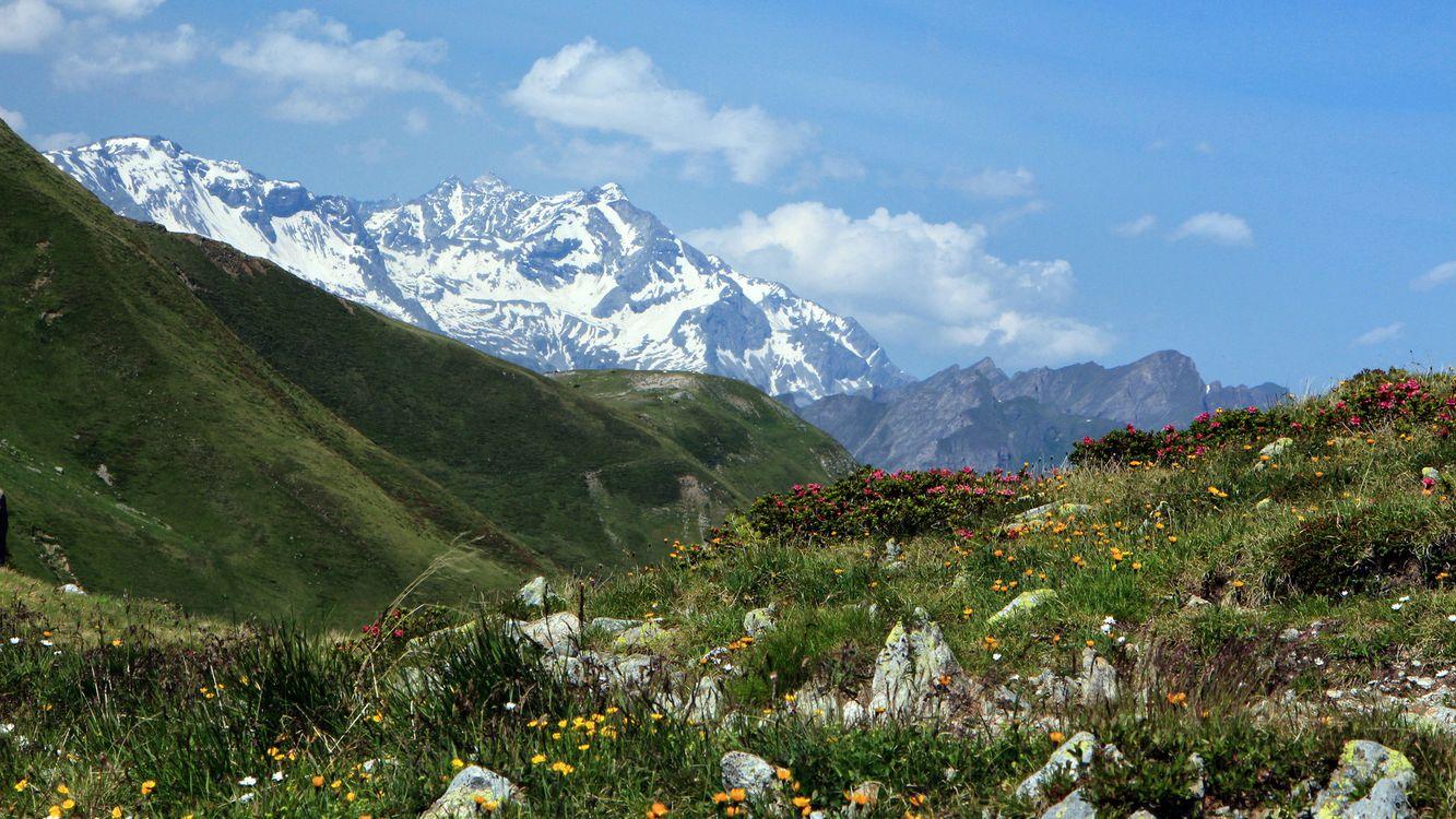 Фото бесплатно горы, холмы трава, зеленая - на рабочий стол