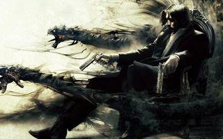 Бесплатные фото the darkness 2,игра,пистолеты,кресло,дым,змеи,мутанты