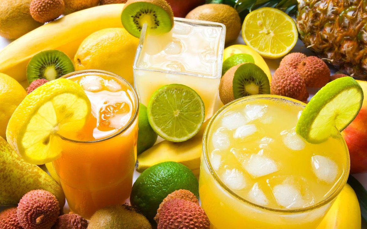 Фото бесплатно коктейль, лимон, апельсин - на рабочий стол