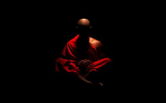 Заставки монах, тибетский, лысый