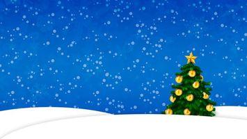 Фото бесплатно новогодняя, елка, зеленая