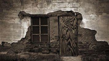 Бесплатные фото окно, двери, стена, кирпич, красиво, абстракции