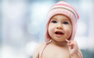 Фото бесплатно ребенок, шапка, полосатая