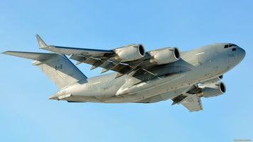 Бесплатные фото самолет, большой, крылья, двигатели, турбины, небо, голубое