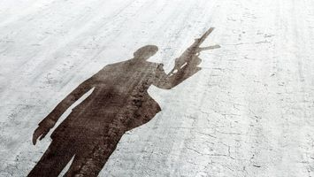 Бесплатные фото силуэт,тень,контур,человек,оружие,пистолет,автомат