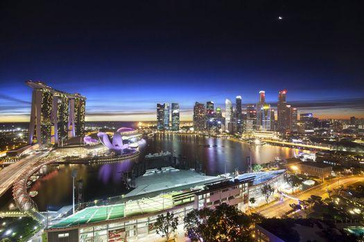 Красивые обои город, сингапур