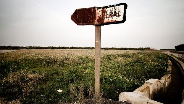 Фото бесплатно трава, поле, знак