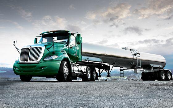 Фото бесплатно тягач, зеленый, цистерна