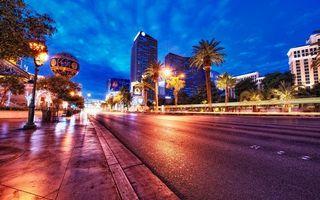 Фото бесплатно улица, вечер, сумерки
