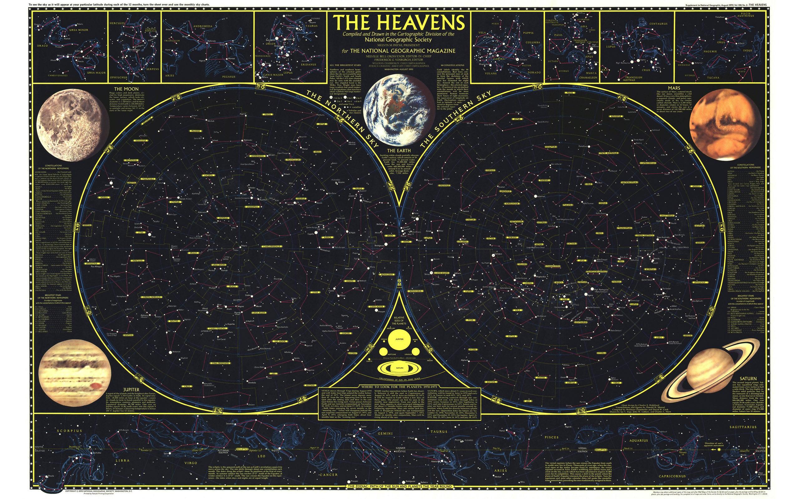 Free photo map, constellation, sky, star - to desktop