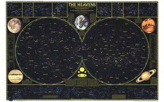 Бесплатные фото карта,созвездия,неба,звездного