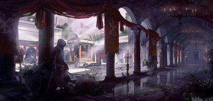Бесплатные фото колонны,brotherhood,двор,donglu yu,арт,assassin's creed,здание