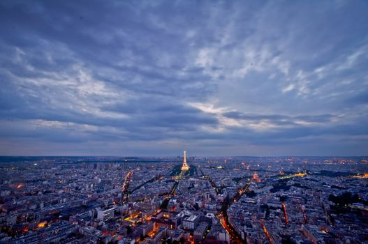 Фото бесплатно город, огни, вечер