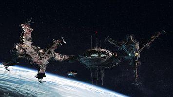 Фото бесплатно корабли, космические, галактика