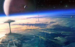 Бесплатные фото будущее, космос, планеты, фантастика