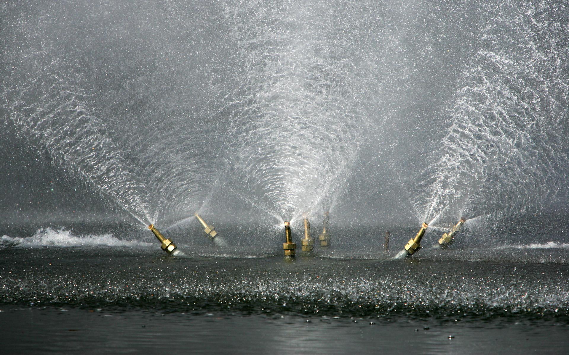 фонтан, вода, брызги