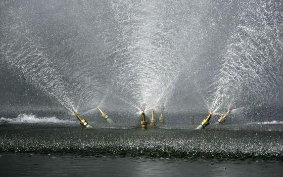 Фото бесплатно фонтан, вода, брызги, поток, струя, капли, лето, парк, тепло, настроения