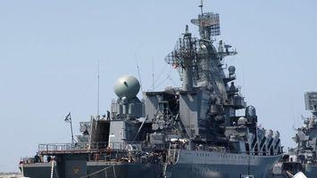 Бесплатные фото корабль,военный,антенны,небо,мачты,флаг,оружие
