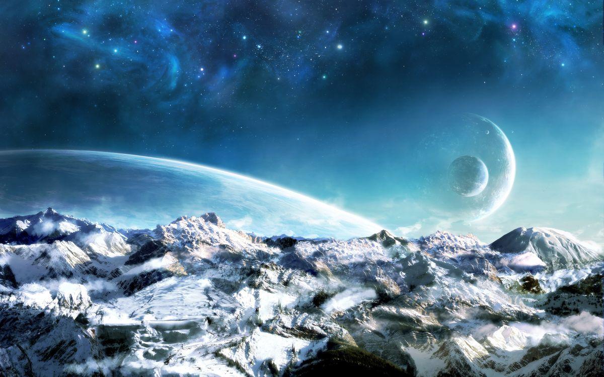 Фото бесплатно космос, вселенная, планеты, звезлы, свечение, невесомость, вакуум, галактика, art, космос