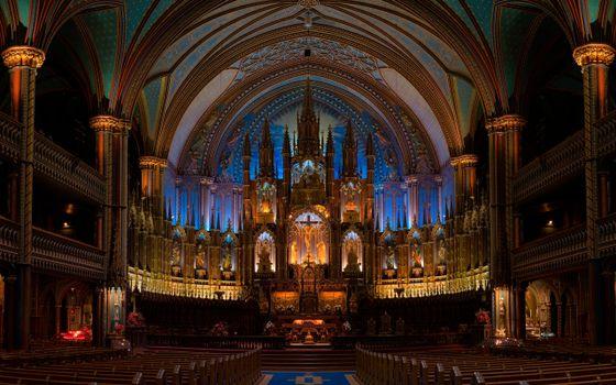 Фото бесплатно костел, церковь, стулья