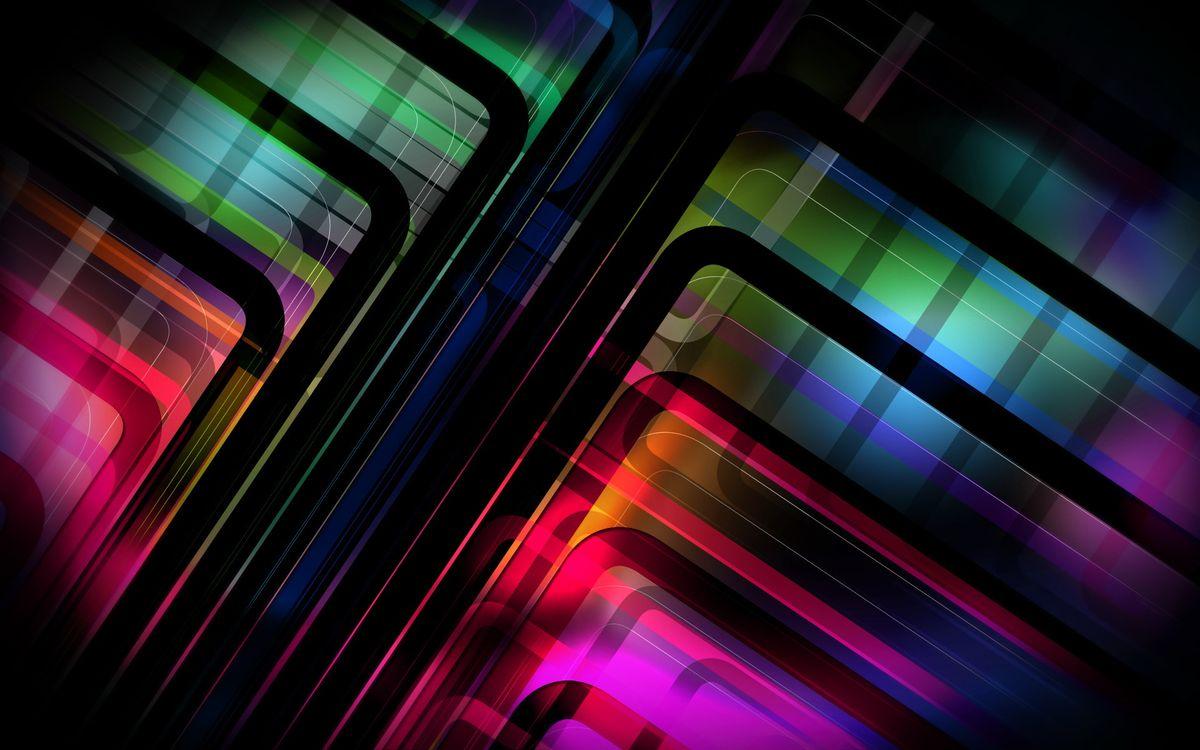 Фото бесплатно линии, градиент, цвета, радуга, узор, полоски, заставка, обои, фон, черный, абстракции, разное, разное
