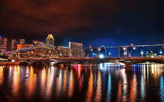 Фото бесплатно мост, залив, река