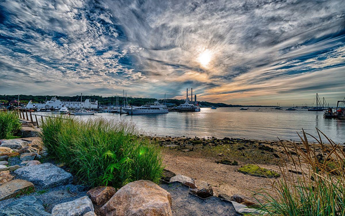 Фото бесплатно яхты, пейзажи, солнце - на рабочий стол