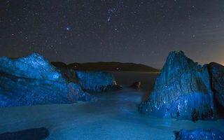 Фото бесплатно ночь, берег, камни