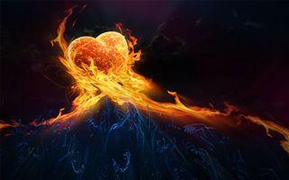 Photo free heart, fire, heat