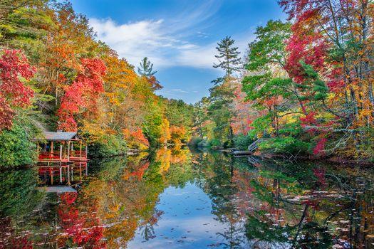 Фото бесплатно Северная Каролина, осень, озеро