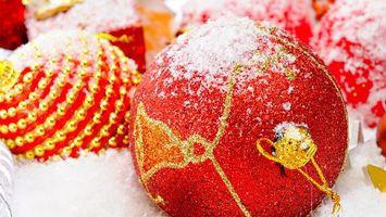 Заставки шарики, игрушки, праздник, рисунки, красный, разное