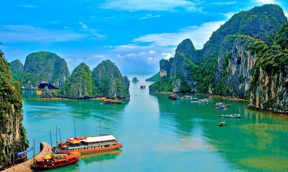 Фото бесплатно Вьетнам, море, пейзажи