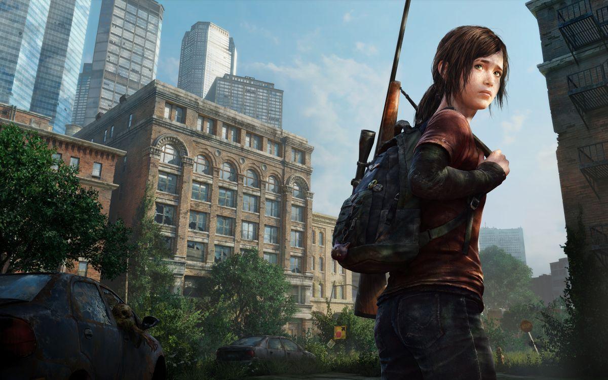 Фото бесплатно девочка, автомат, портфель, рюкзак, снайпер, дом, улицы, деревья, оружие, оружие