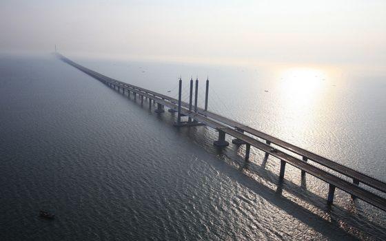Фото бесплатно мост, надводный, китай