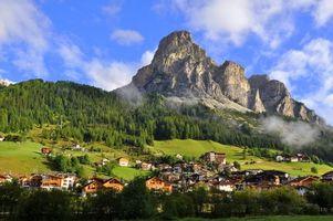 Фото бесплатно гора, скала, цветки