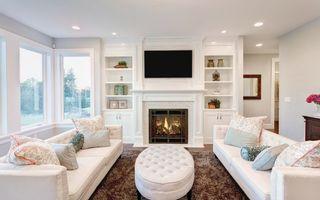Фото бесплатно гостиная, белая, диваны