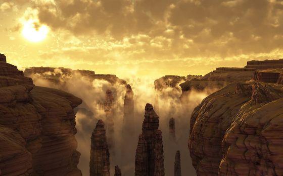 Фото бесплатно каньон, песчаник, колоны