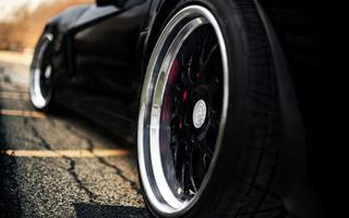 Photo free wheels, tires, car
