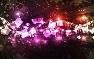 Photo free cubes, stars, lights