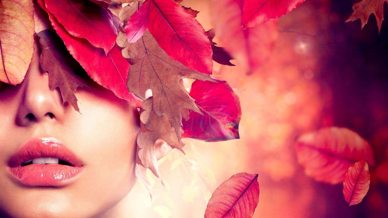 Фото бесплатно лицо, губы, макияж - на рабочий стол