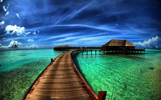 Photo free bridge, azure, water