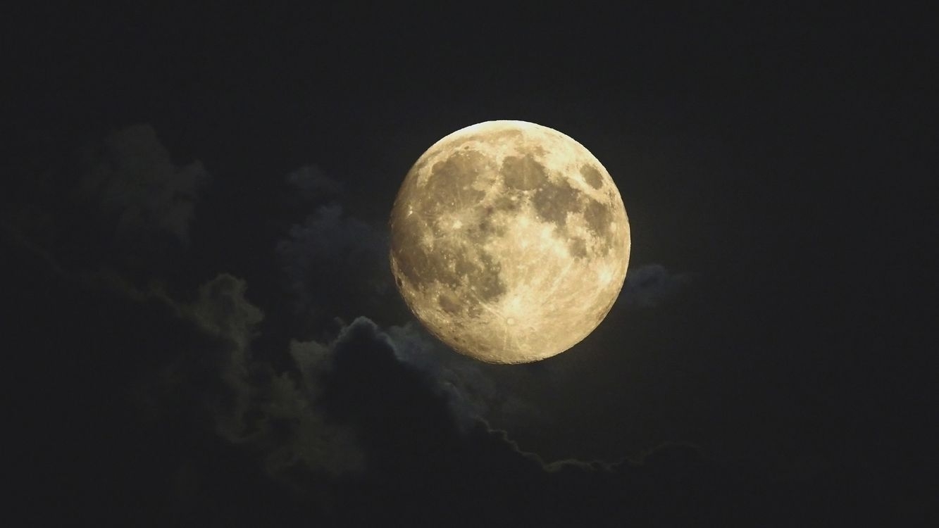 Photos for free clouds, night, moon - to the desktop