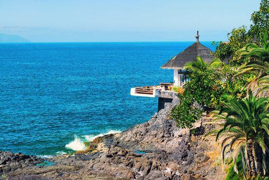 Бесплатные фото скала,дом,катедж,тропики,море,пейзажи